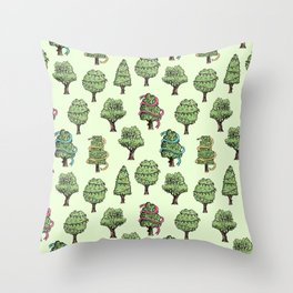 Decorated Trees Throw Pillow
