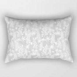 Winter patterns on the window. Rectangular Pillow