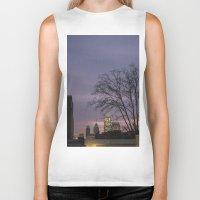 skyline Biker Tanks featuring skyline by Amanda Stockwell