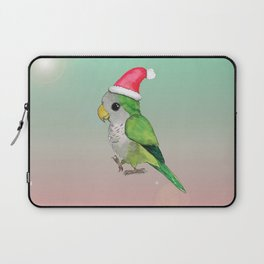 Green Christmas parrot Laptop Sleeve