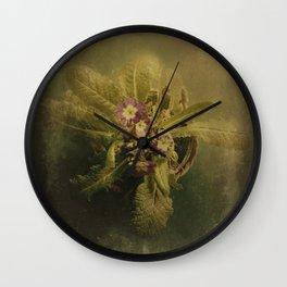 Little Winter Flower Wall Clock