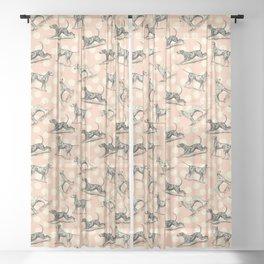 Dalmatian Dogs Pattern Sheer Curtain