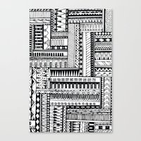 tribal Canvas Prints featuring Tribal  by Ale Ibanez