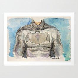The Bat Man - Fictional Superhero Art Print