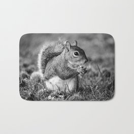 Wild Squirrel Collecting Conkers Bath Mat