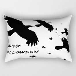 Happy Halloween Murder of Crows  Rectangular Pillow