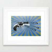 guns Framed Art Prints featuring guns by mark ashkenazi