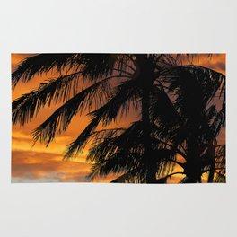 Tropical Palm Silhouette Rug