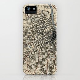 Vintage Map of Nashville Tennessee (1929) iPhone Case