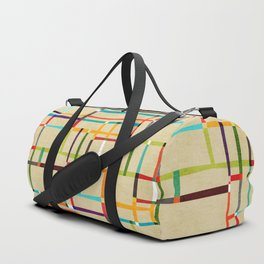 The map (after Mondrian) Duffle Bag