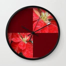 Mottled Red Poinsettia 1 Ephemeral Blank Q10F0 Wall Clock