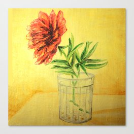 flower in a glass . illustration  ( https://society6.com/totalflora/collection ) Canvas Print