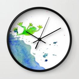 jumping frog Wall Clock