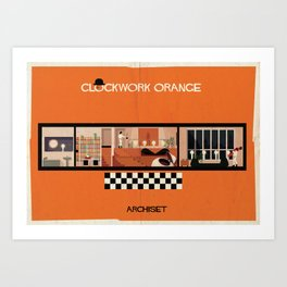 Clockwork orange_ Directed by Stanley Kubrick Art Print