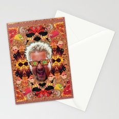God Guy Fieri's Hot Dog Diggityverse Stationery Cards