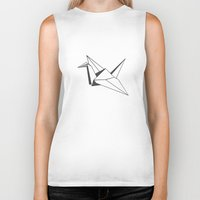 origami Biker Tanks featuring origami by elyinspira