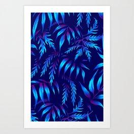 Brooklyn Forest - Blue Art Print