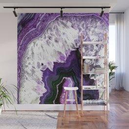 Ultra Violet Agate Illustration Wall Mural
