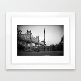 Woody Allen New York, Manhattan Framed Art Print