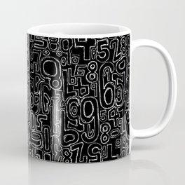 Sketched Numbers Coffee Mug