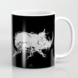 Beetle 1.  White on black background. Coffee Mug