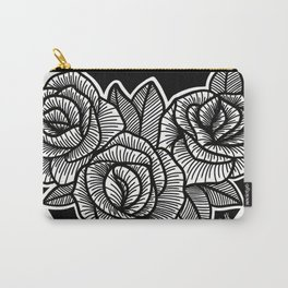 Line Work Rose Trio Carry-All Pouch