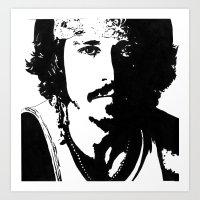 johnny depp Art Prints featuring Johnny Depp by Jeanique van den Berg