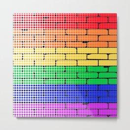 Rainbow Dot Matrix Metal Print