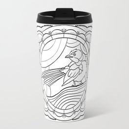 Tangled Blue Wren Travel Mug