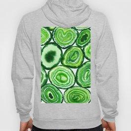 Green agate pattern Hoody
