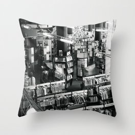 Books In The Public Library Throw Pillow