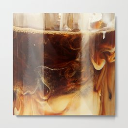 Magic of Ice Cafe Latte Coffee Metal Print