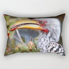 Yellow-billed hornbill, South Africa Rectangular Pillow
