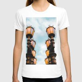 Urban Lights at LACMA, Los Angeles, California, USA with blue sky T-shirt
