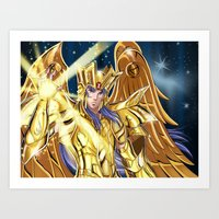 saga Art Prints featuring Gemini Saga by Studio Kawaii