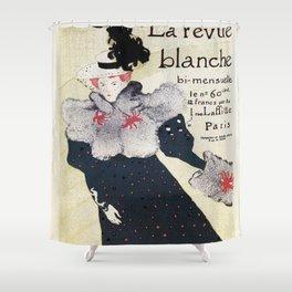 La Revue Blanche Toulouse Lautrec Shower Curtain