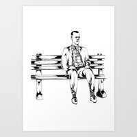 forrest gump Art Prints featuring Forrest Gump by Christine S.