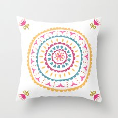Suzani inspired floral 2 Throw Pillow