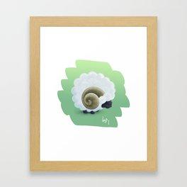 White Sheep Framed Art Print