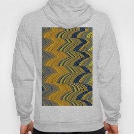 Blue and yellow abstract Hoody