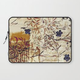 Vintage floral collage on paper Laptop Sleeve