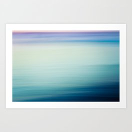 I Love the Sea Ombre Abstract Art Print