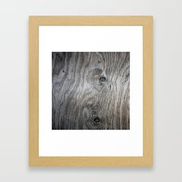 Real Aged Silver Wood Framed Art Print