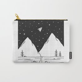 """""""Fly Away"""" - Paper Plane Landscape Carry-All Pouch"""