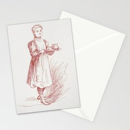 Little Paulina Christmas in Russia (1906) by Anna Robinson and Mary Cowden Clarke Stationery Cards