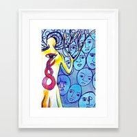 snake Framed Art Prints featuring Snake by Dawn Patel Art