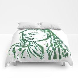 Fiona Apple in Lines Comforters