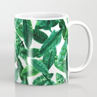 palm Mugs featuring Palm  by Amy Sia