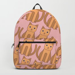 Ginger Cat Pattern (Pink) Backpack