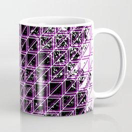 Geometric distressed pattern purple Coffee Mug